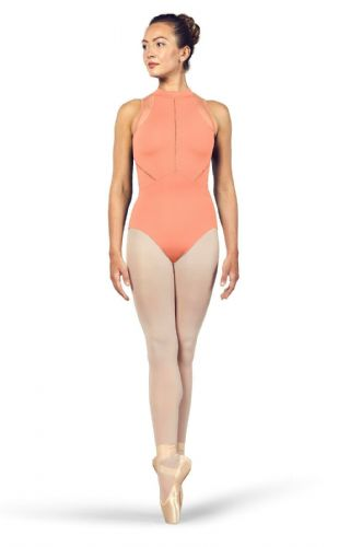 BLOCH Ladies Dance High Neckline Zip Open Back Halter Leotard Loanne L4985 Can